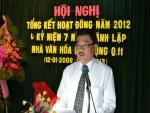 Hội nghị tổng kết hoạt động năm 2012 và kỷ niệm 7 năm thành lập NVHLĐ Q.11 (12/01/2006 – 12/01/2013).