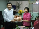 BCH Liên đoàn Lao động quận 11 đến chúc mừng Hội Liên hiệp Phụ nữ nhân ngày Phụ nữ Việt Nam 20/10.