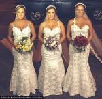 Chị em sinh ba tổ chức đám cưới chung, gây nỗi hoang mang cho các chú rể.